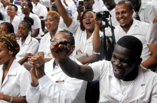First group of cuban students arrive in south Africa
